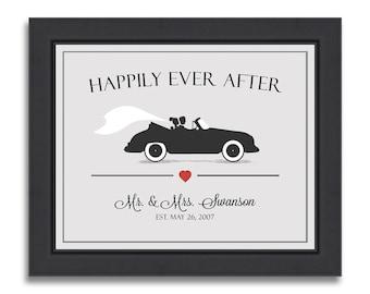 Unique Wedding Gift Idea For Couple, Wedding Art Print, Bridal Shower Gift, Newlyweds Gift