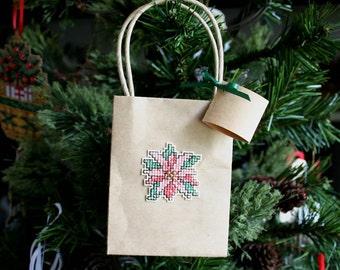 Poinsettia Gift Bag - Free U.S. Shipping