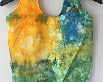 Ice Dyed Stuffable Tote Bag, #153