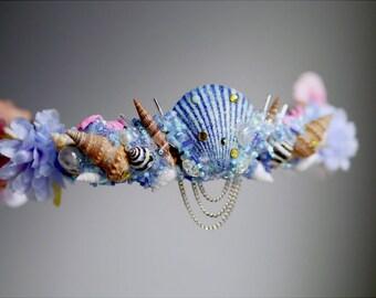 The Bubble Mermaid Flower Crown / headband / headdress