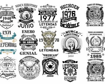 Vinyl Designs Vectors legends for t-shirts in vectors