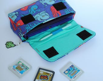 Octopus 3DS / 3DS xL / New 3DS Carrying Case MADE TO ORDER