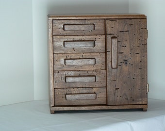 Jewelry Box - Handcrafted - Handmade - Wooden Jewelry Chest - locally harvested wood – made by solar energy - Holiday present