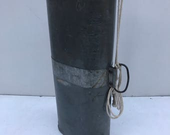 Old gas can + tap handle rough painted Vintage Metal Tin