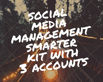 Social media management smarter kit, seo, social media marketing, smarter kit, facebook, twitter, pinterest, instagram management, branding