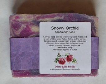 Handmade Soap Bar, Purple Soap Bar, Artisan Soap Bar, Orchid Scented Soap