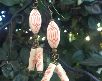 Ancestor Etched Earrings