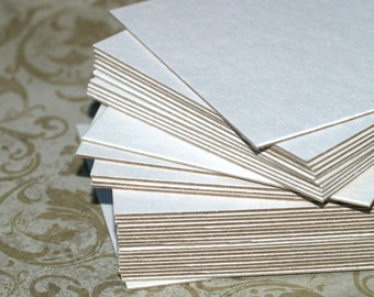 """4"""" White Chipboard Squares (24) Heavyweight Cards Blank Cards DIY Banner Art Supplies Craft Supply Thick Cardstock Recycled Eco Friendly"""