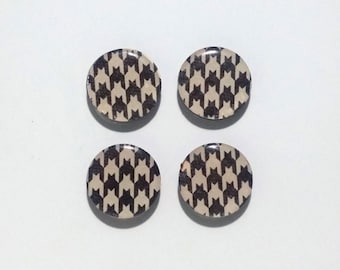 Houndstooth Fridge Magnets / Refrigerator Magnets