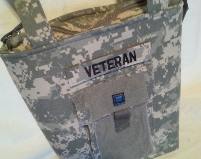 Army mom army wife veteran camo bag acu custom bag can add your name tag for free available for all branches of military AF ABU Marines Navy Coast Guard