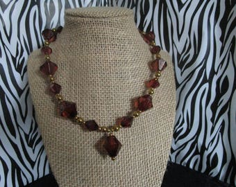 Brown & Bronze Necklace