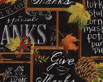 Give Thanks Chalkboard from Timeless Treasures