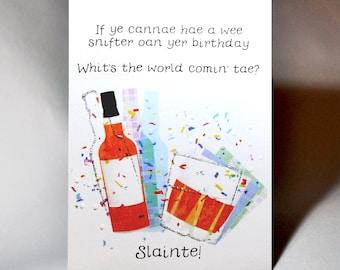 Birthday Slainte Card WWBI137