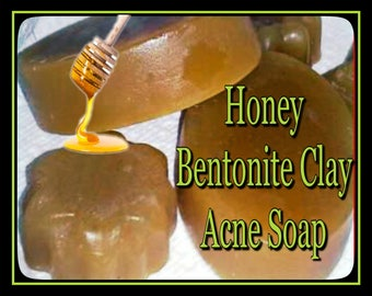 Honey and Bentonite Clay Acne Soap