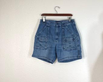 90's vintage st john's bay denim bush shorts size w32