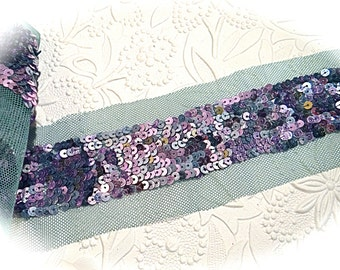 Vintage Sequin Trim Costume Trimming Sewing Supplies T-168
