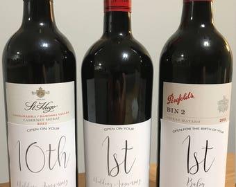 Wedding Gift Wine Bottle Tags