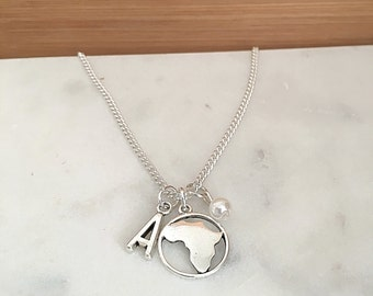 Personalized Africa Necklace