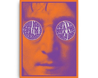John Lennon Imagine Canvas Print(Ships from USA)