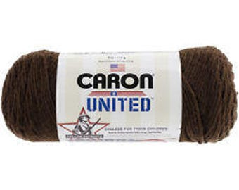 Acrylic Yarn Mocha Brown Caron United Yarn 6003