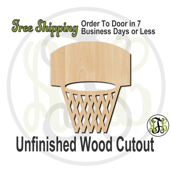 Basketball Hoop - 60001- School Spirit Cutout, unfinished, wood cutout, wood craft, laser cut shape, wood cut out, Door Hanger, wooden
