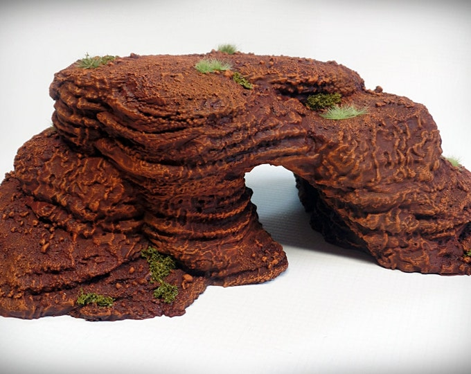 Wargame Terrain - Spires and Plateaus Archway – Miniature Wargaming & RPG rock formation terrain - 9x5.5x3.25 inches