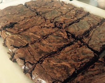 12 Double Chocolate Brownies, the perfect gift.