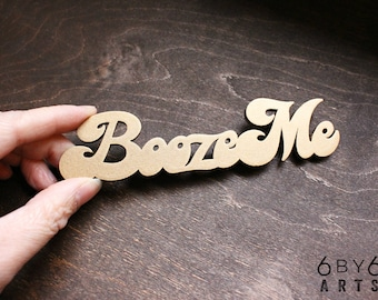 Booze Me Refrigerator Magnet | Gifts for Mom | Bar Decor | Funny Gifts for Adults