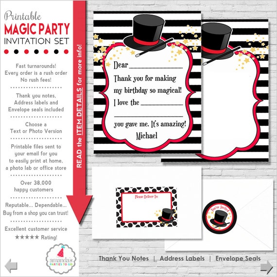 Magic party invitation magic birthday invitation magic magic party invitation magic birthday invitation magic invitation printable magician invitation amandas parties to go stopboris Image collections