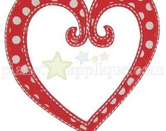 DIY Iron On Applique Patch, SCROLL HEART