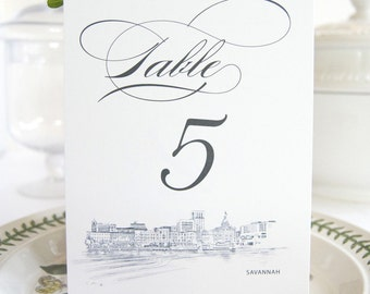 Savannah Skyline Table Numbers (1-10)