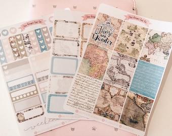 A la carte Wanderlust Planner Sticker Kit | for use with erin condren, Kikki k, Filofax, bullet journal, vertical sticker kit