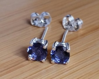 Iolite 5mm earrings