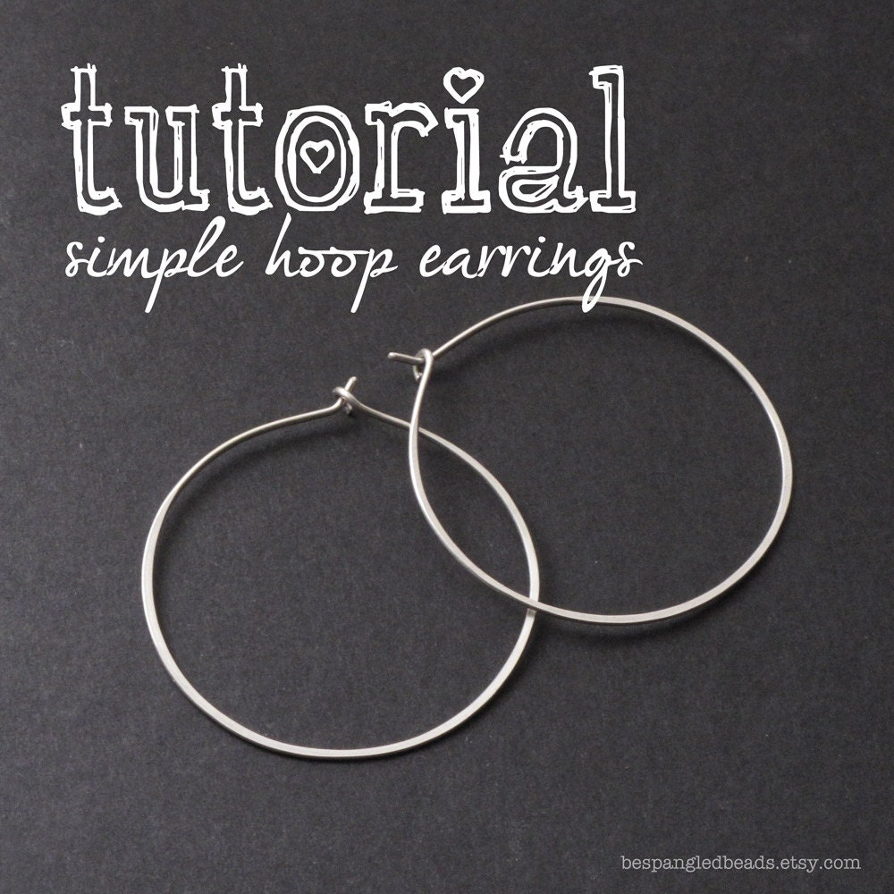 Wire Jewelry PDF Tutorial: How to Make Simple Wire Hoop Earrings ...
