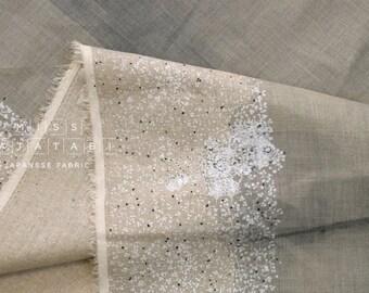 Nani Iro Kokka Japanese Fabric wild flower linen - nibi - 50cm