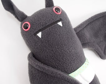 Flasher Bat! Plush bat in tiny tighty whities - Mint band w/ hearts