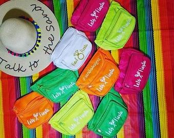 Custom Fanny Waist Pack - Bridesmaid, Squad, Tribe, Bride, Bachelorette, Neon, Fiesta, Aloha