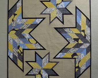 Modern Quilt - Madrona Road Scrappy Stars - 34 x 42 inches