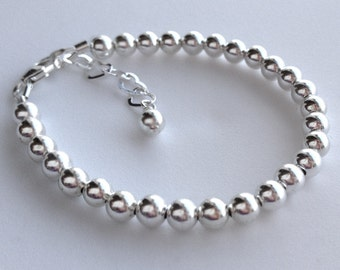 Sterling Silver 4mm Beads, jewelryfine and silver jewelry
