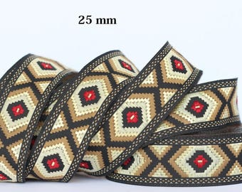 to order! 10 m couture lace embroidered Jacquard * 25mm wide