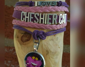 Infinity love Cheshire Cat bracelet