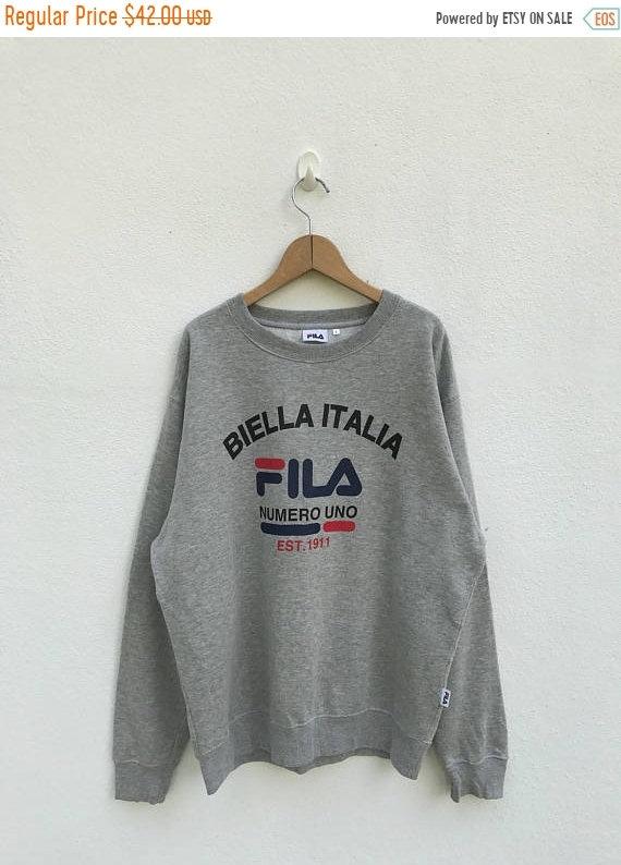 20% OFF Vintage Fila Big Logo Sweatshirt Fila Sweater Casual c9462df963703