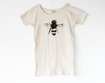 Organic - Bee Shirt - Womens - Honey Bee - Bamboo - Organic Cotton - Small, Medium, Large, XL- Clothing