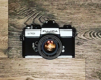 Vintage Fujica ST701 SLR Film Camera w/ 55mm Lense • Fuji Photo Film Company • Made in Japan