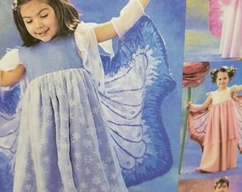 Girls Fairy Costume Pattern Mccalls Costumes 3758 Childrens Size 3-8 Fairy Costume Play Costume