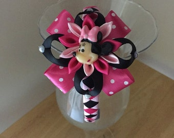 Disney Inspired Minnie Mouse Headband.  Free Shipping- Handmade