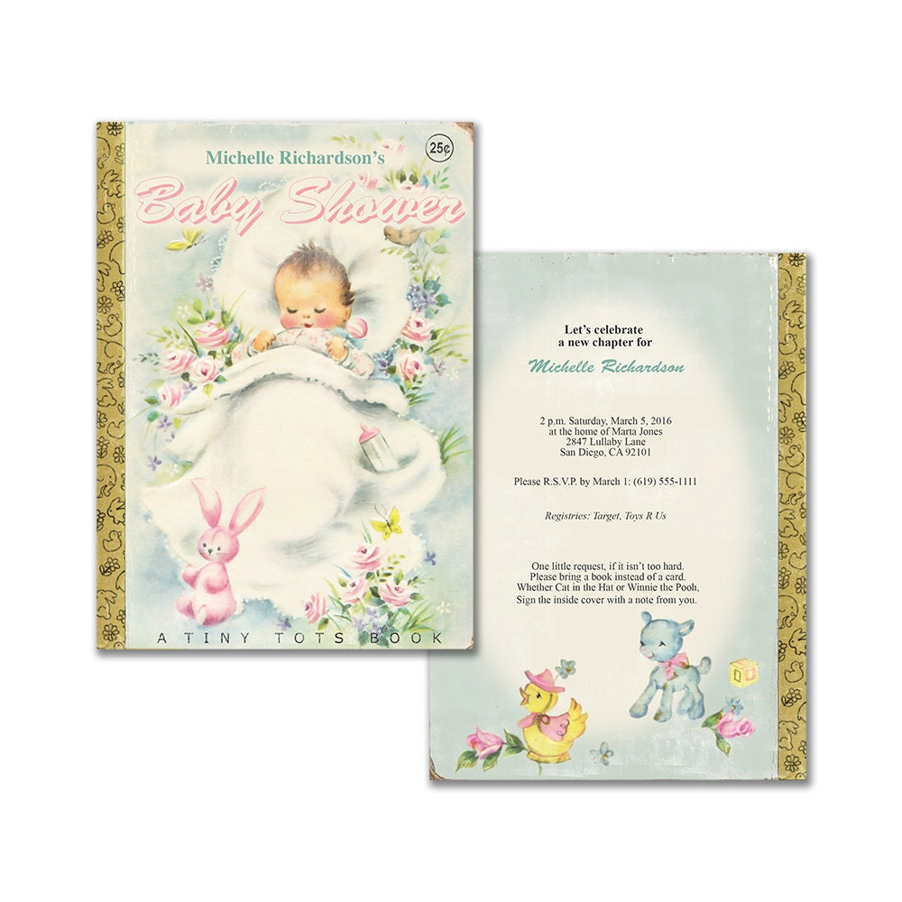 Baby Shower Bring A Book baby shower favors for girl