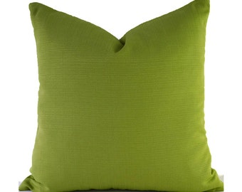 Outdoor Pillows Outdoor Pillow Covers Decorative Pillows ANY SIZE Pillow Cover Green Pillow Covers Richloom Forsythe Kiwi