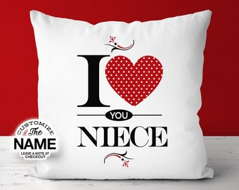 I Love You Niece, Grandma Gift, Niece Birthday, Mother's Day, Niece Pillow, Niece