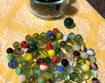 Assorted Glass Marbles